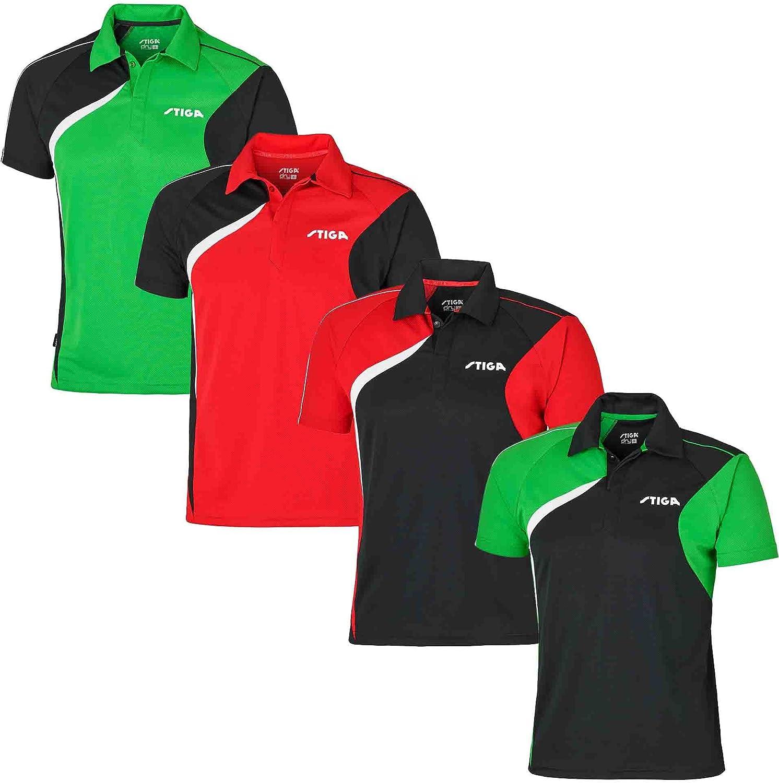 Ropa de Tenis de Mesa: Stiga Camisa Viaje Negro/Rojo/Blanco Talla XXS