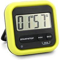 Tomshin Cronômetro de cozinha Cronômetro digital com alarme alto LCD grande contagem crescente ou cronômetro de contagem…