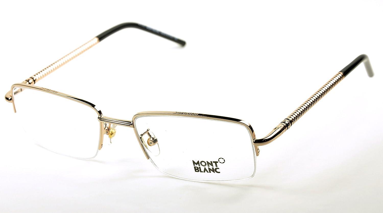 ddf6cf22030 Amazon.com  Mont Blanc MB 440 Eyeglasses Color 028 Gold New  Clothing