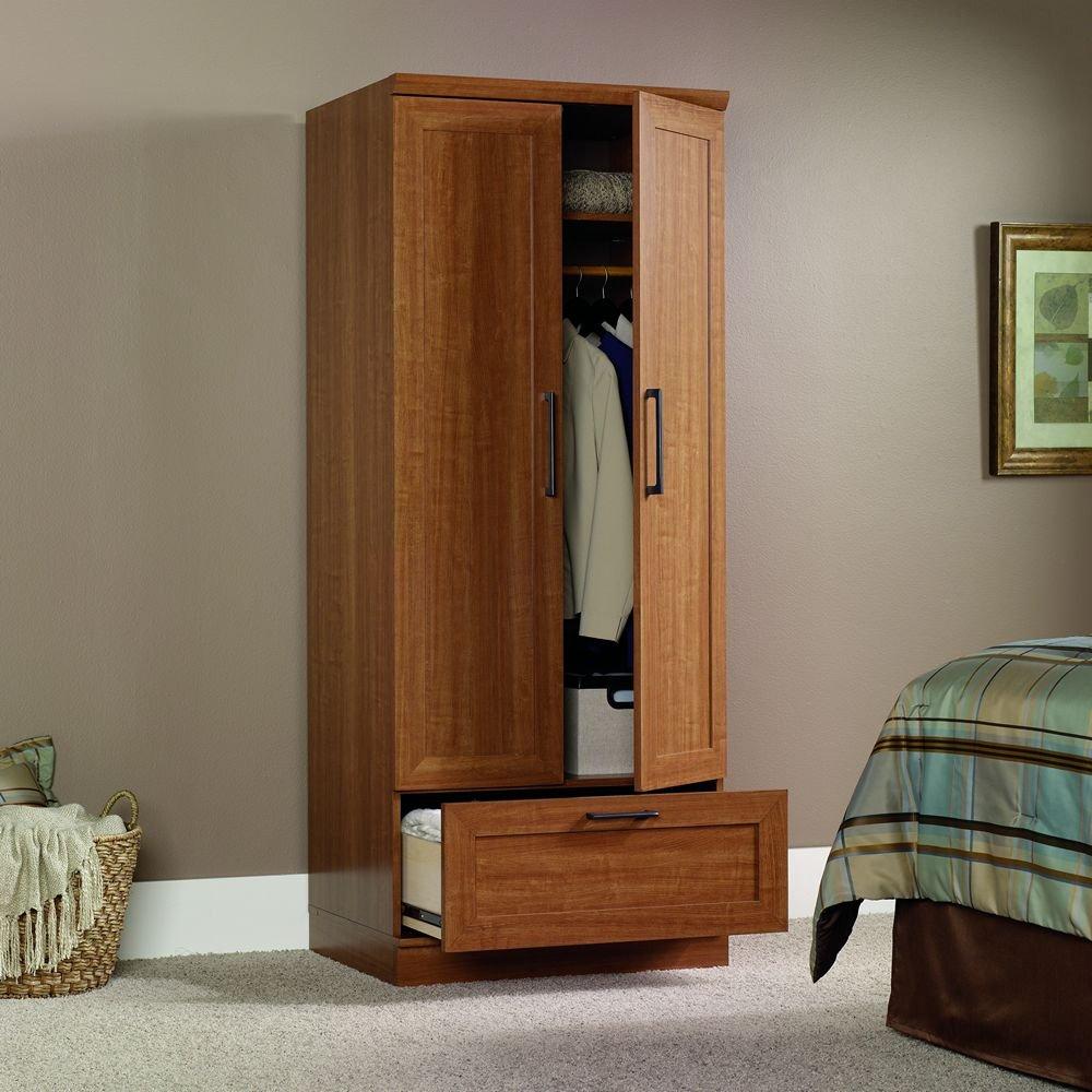 Nice Amazon.com: Sauder Homeplus Wardrobe/Storage Cabinet, Sienna Oak Finish:  Kitchen U0026 Dining