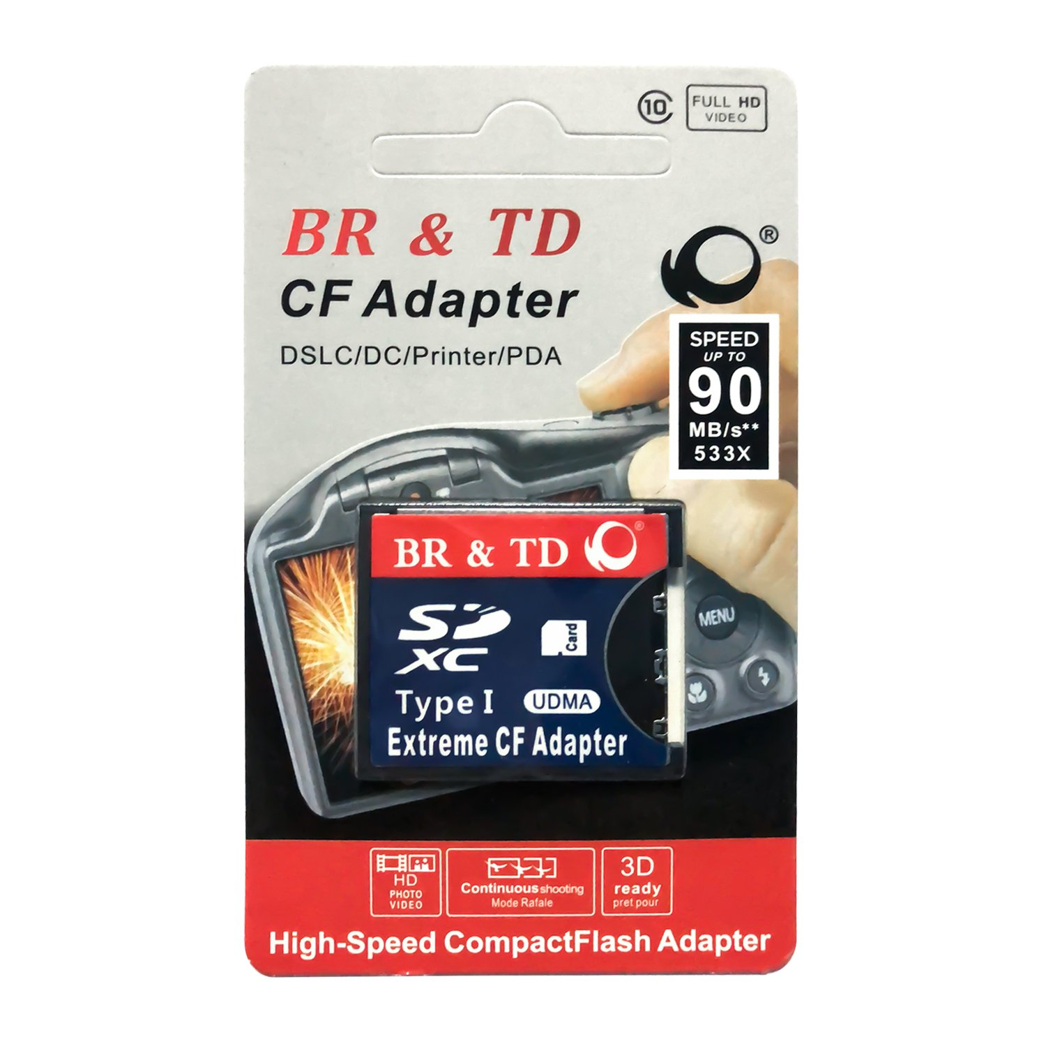 BR & TD SD CF Card Adapter Wireless Wifi SD Card to Type I Card Adapter for SLR Camera