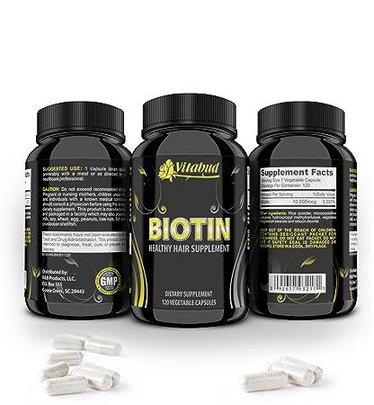 Amazon com: Biotin Best Vitamins Supplement For Hair Growth Pills