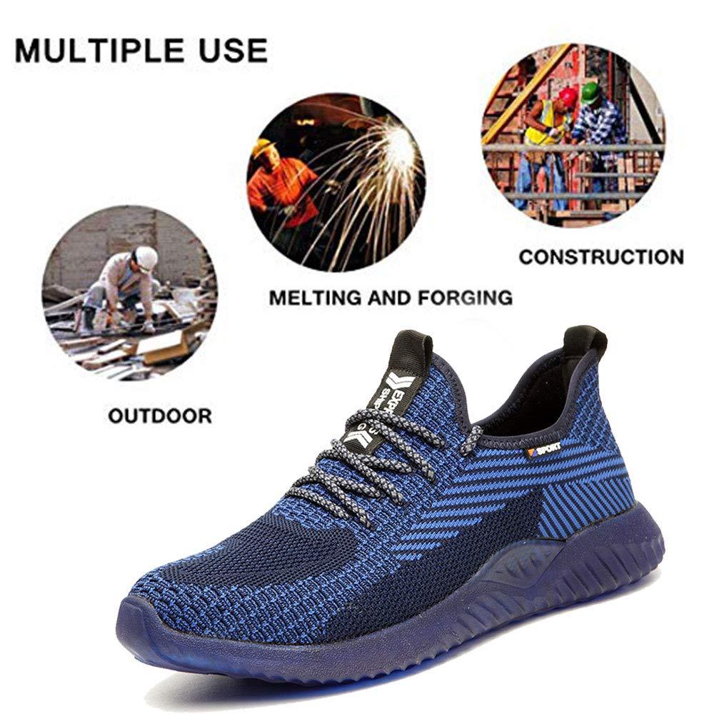 GUFANSI Sicherheitsschuhe Herren Arbeitsschuhe Damen mit Stahlkappe Kevlar Leicht Sportlich Sneaker Schutzschuhe