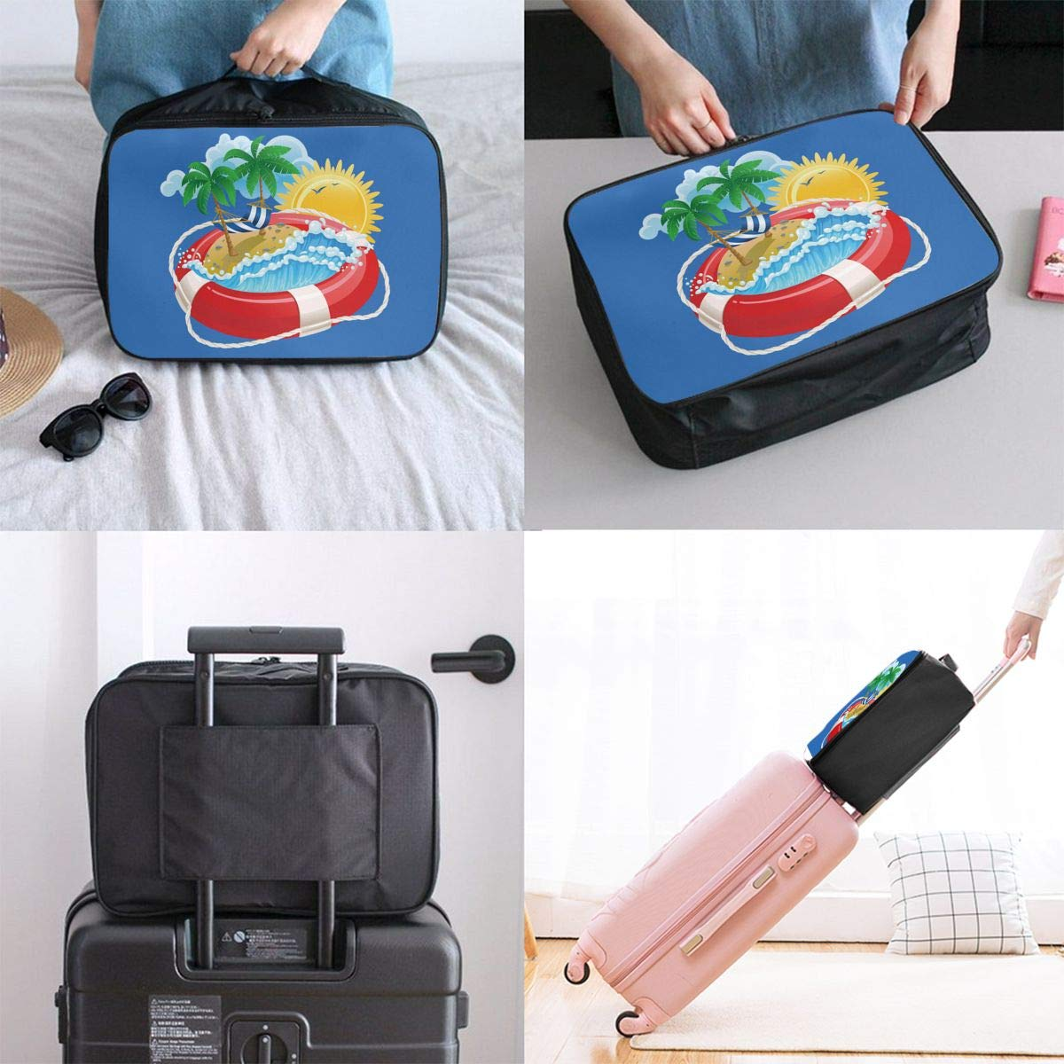 Travel Luggage Duffle Bag Lightweight Portable Handbag Swimming Pool Large Capacity Waterproof Foldable Storage Tote