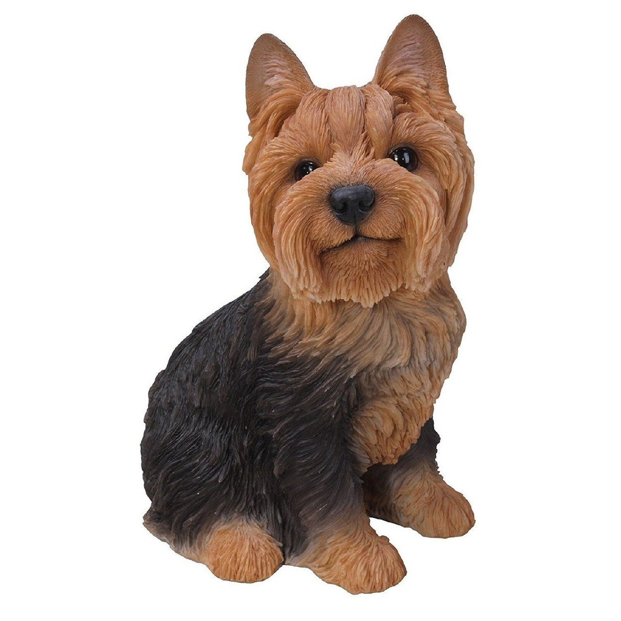 Vivid Arts - Real Life Sitting Yorkshire Terrier Home or Garden Decoration  (XRL-YKTS-B)