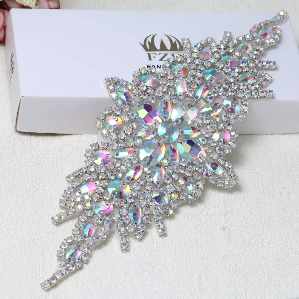 Bling Diamante Beads Applique Motif Wedding Birthday Party Sewing//Iron on Trims