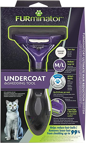 FURminator Undercoat deShedding Tool para gatos medianos y grandes ...