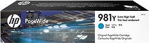 HP 981Y   Pagewide Cartridge Extra High Yield   Cyan   L0R13A