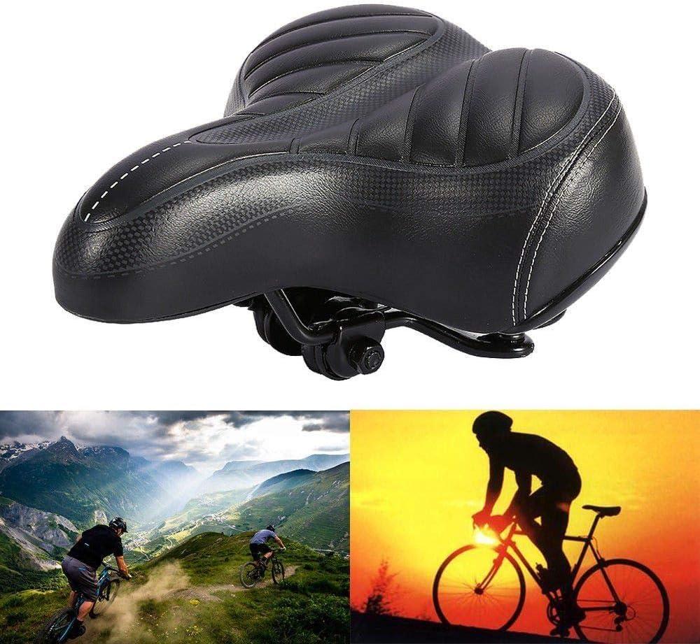 bequemer Fahrradsitz geeignet f/ür Fahrrad-//Mountainbike//Stra/ßenfahrrad ergonomischer Gel Fahrradsattel Gelsattel gef/üllt mit Gelschaum mit doppelter Federung komfortabel
