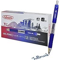 NEW LAUNCH PROMO ! 12-pack x Fullmark JEL Retractable Premium Gel Ink Pens, Blue, Fine Point