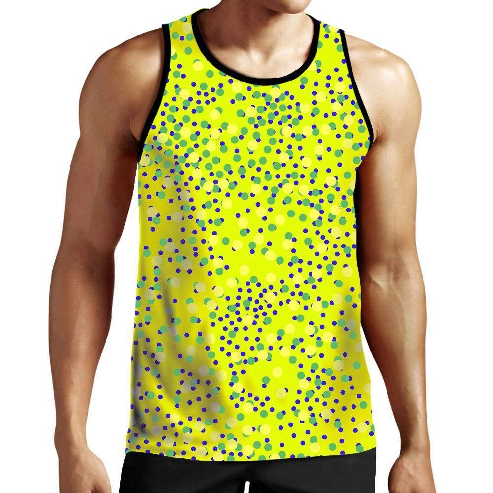 On Cue Apparel Mixed Dots Tank Top