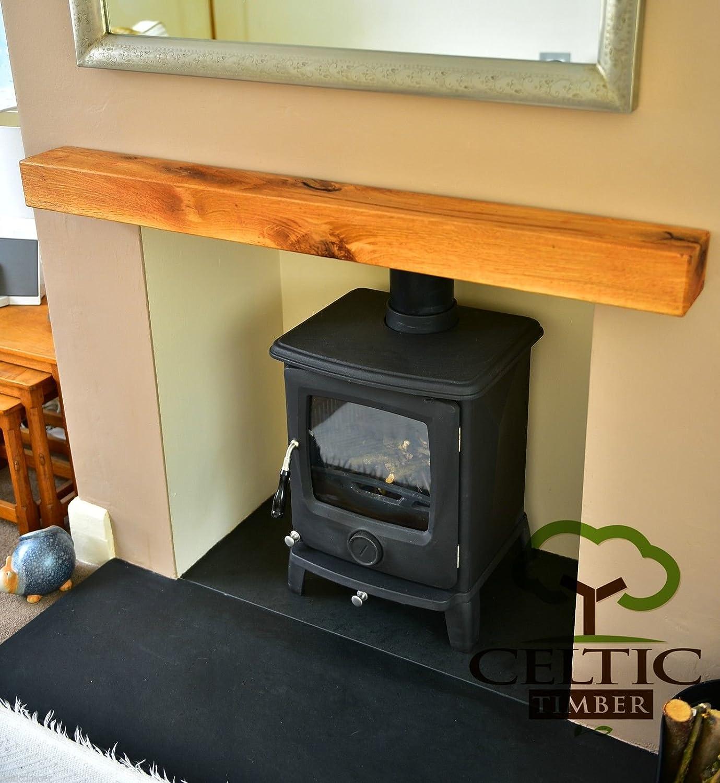 celtic timber solid french oak beam floating shelf mantle piece