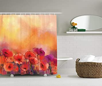 New bath Watercolor Flower Decor Collection, Flower Season ...
