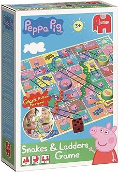Peppa Pig Slangen & Ladders Vloerspel Niños Juego de Mesa de ...