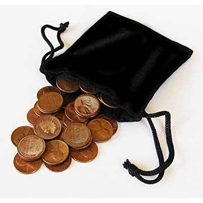 Bag of Fifty Various Coins with an Indian Head Penny: Toys & Games