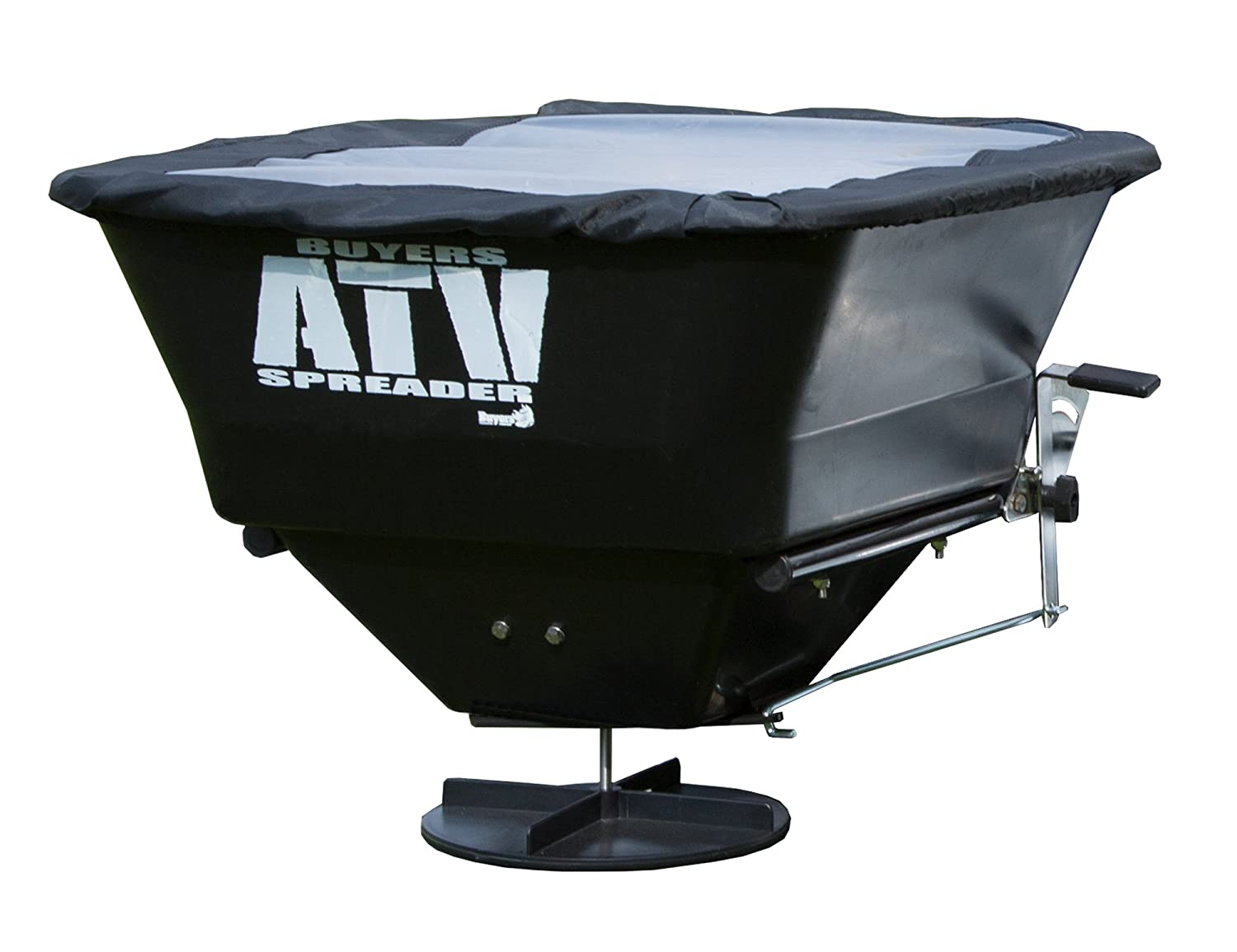 Buyers Products ATVS100 ATV All-Purpose Broadcast Spreader 100 lbs. Capacity with Rain Cover