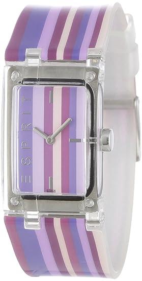 Esprit Houston - Reloj analógico de mujer de cuarzo con correa de plástico multicolor - sumergible