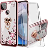 BTShare for Moto One 5G Ace/Moto G 5G 2021 Case with Tempered Glass Screen Protector (2 Packs), Bling Crystal Soft TPU Clear