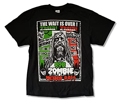 bd5bf673b0 Rob Zombie Mexico 2014 Tour Black T Shirt