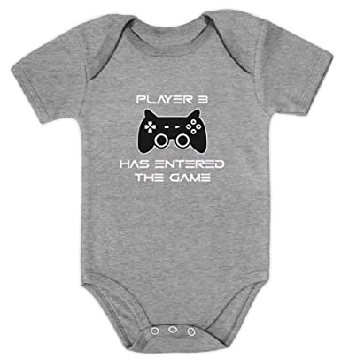 7e2d984c2c2 Player Baby Grow Gaming Onesie - Funny Baby Bodysuit for Baby Boy or Baby  Girl