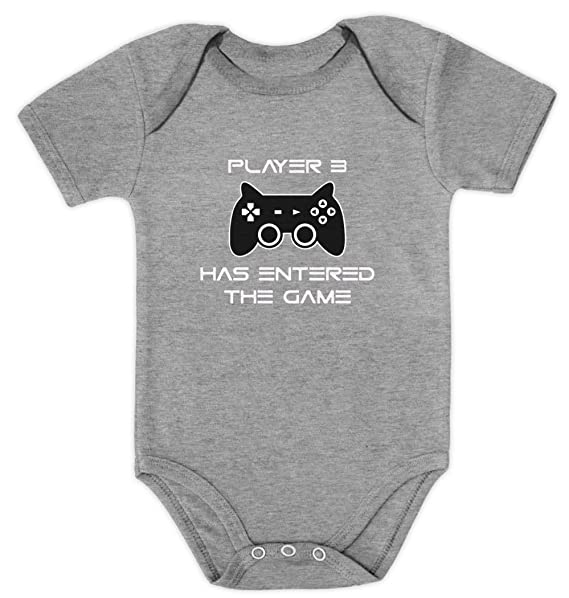 13e7c48b5 Player 3 Has Entered The Game - Funny Baby Grow Bodysuit Gift Third Child  Baby Onesie: Amazon.co.uk: Clothing