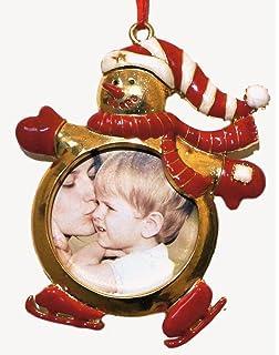 Amazon.com: Mikasa Silver-Plate Frame Christmas Ornaments (Set of 3 ...