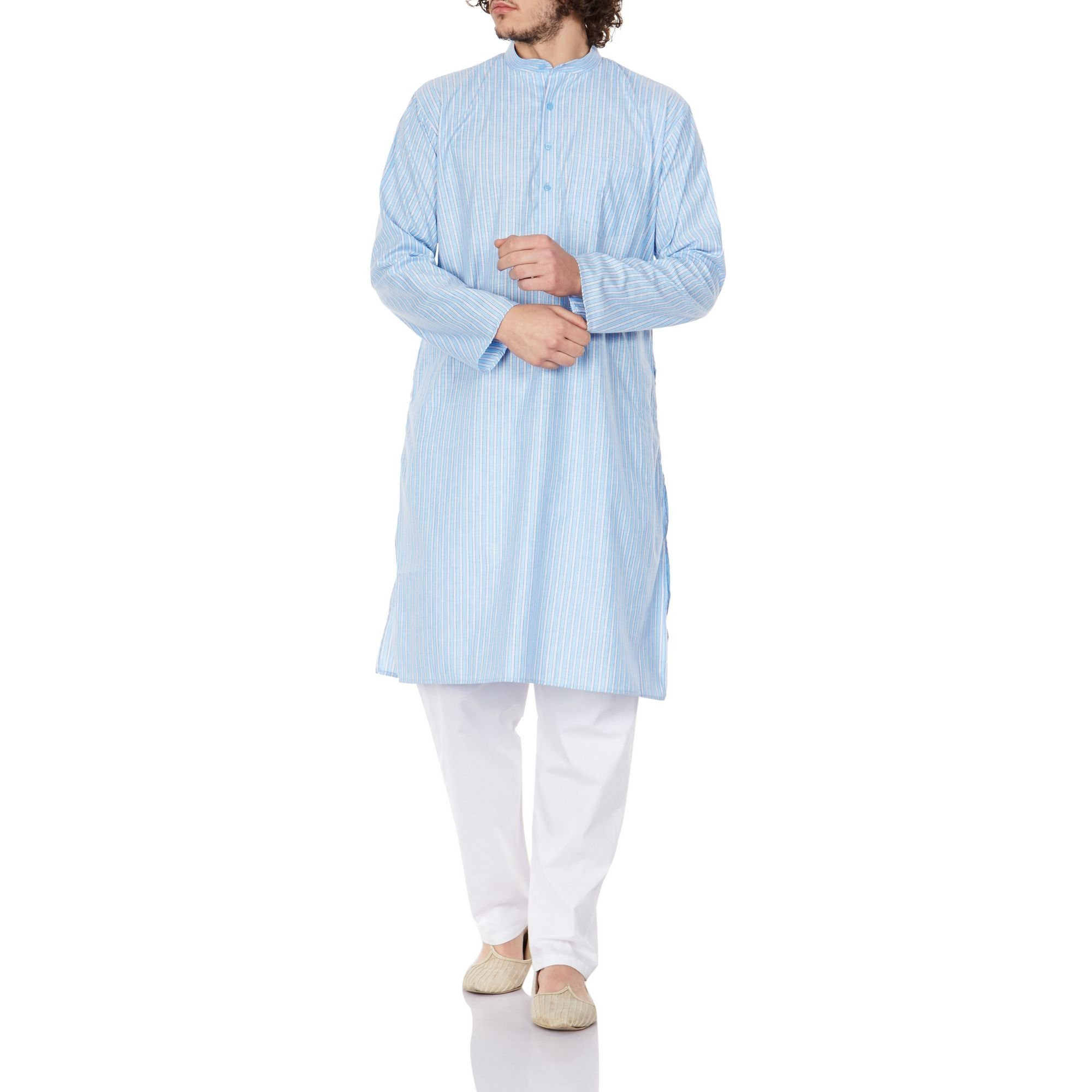 Traditional Wear Comfortable Kurta Pajama for Men Indian Gifts For Him 46 Inches