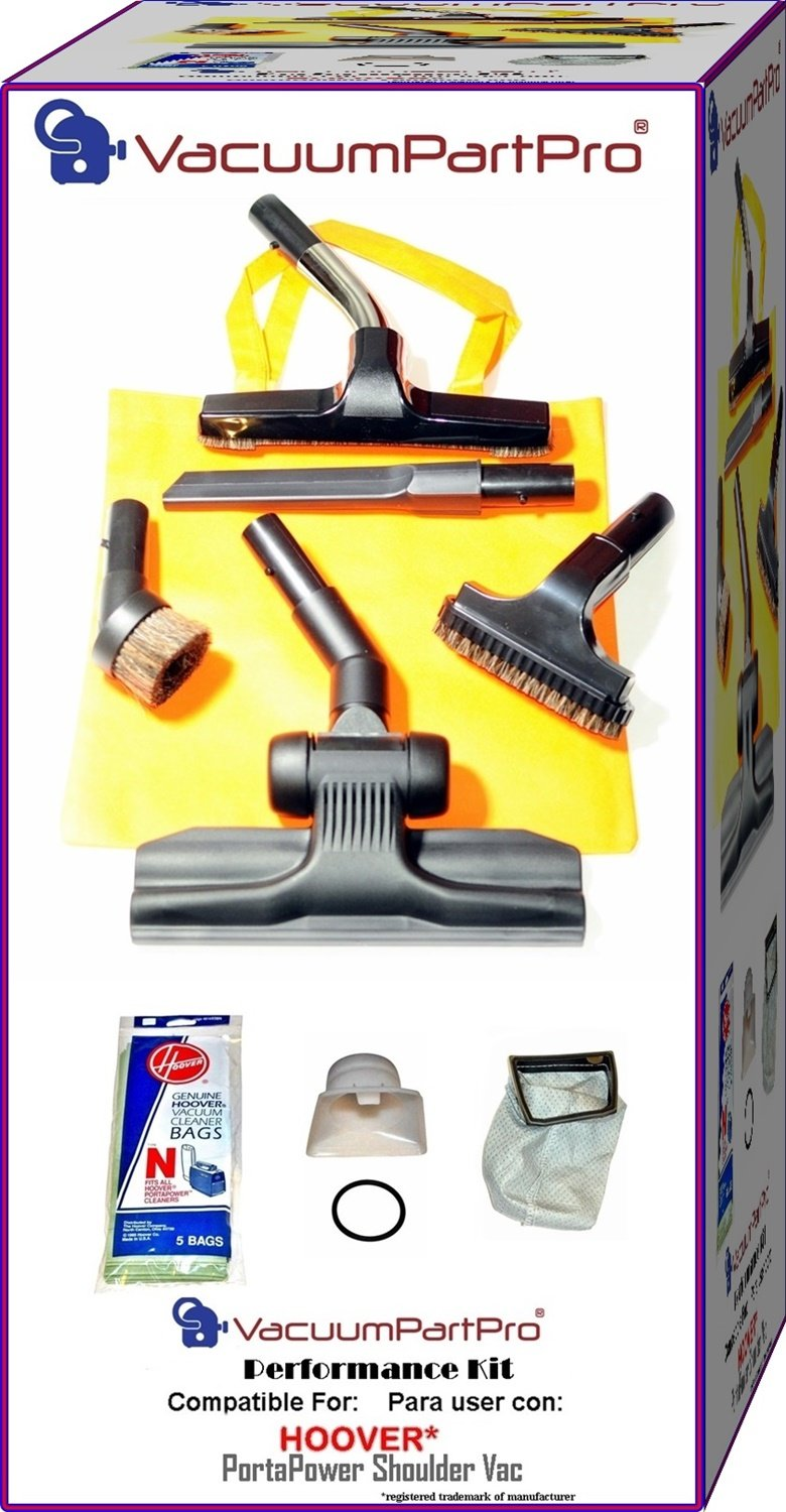 Vacuum Part Pro® Hoover PortaPower C2094, CH30000, S7065 Commercial Shoulder Vacuum Performance Package By