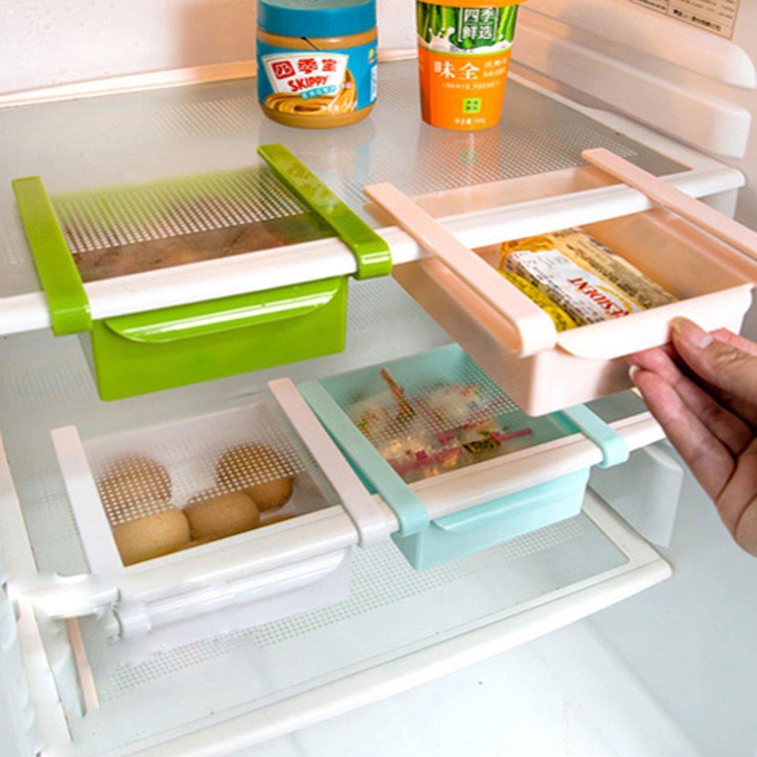 Amazon.com: DealMux plástico Frigorífico Frigorífico Congelador Gaveta Bandeja Ice Dish Armazenamento Organizer Branco: Kitchen & Dining