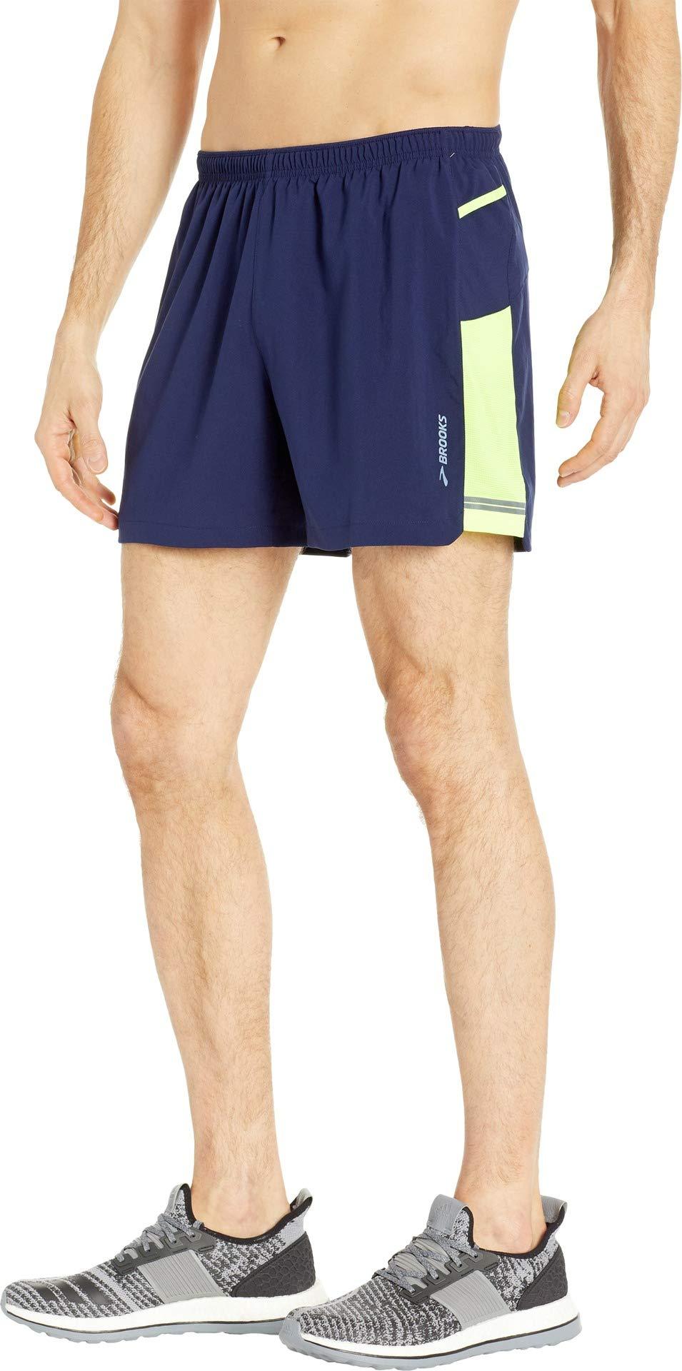 Brooks Men's Sherpa 5'' Shorts Navy/Nightlife Medium 5 by Brooks (Image #2)