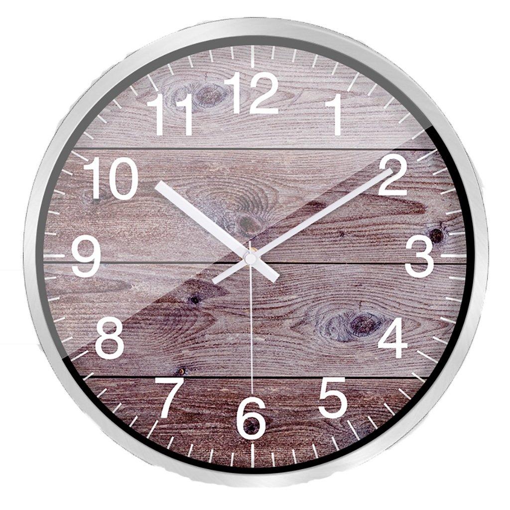 クリエイティブウッドの壁の時計のスタイルの壁のテーブル現代のヨーロッパのリビングルームのベッドルームのサイレントクォーツ時計 (色 : E, サイズ さいず : 30.5cm) B07DNNSMKK 30.5cm|E E 30.5cm