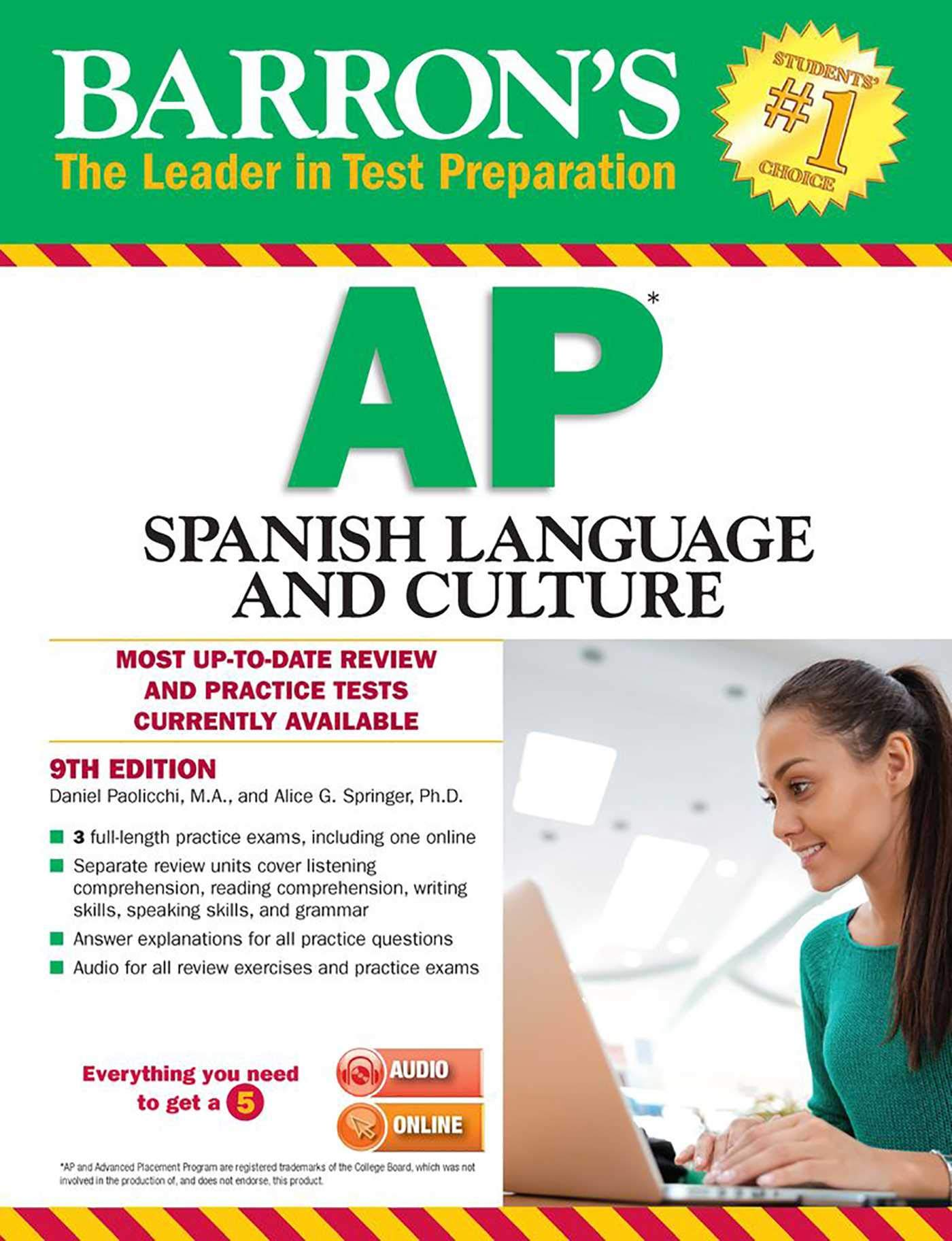 Barron's AP Spanish Language and Culture with MP3 CD, 9th Edition by Barron s Educational Series