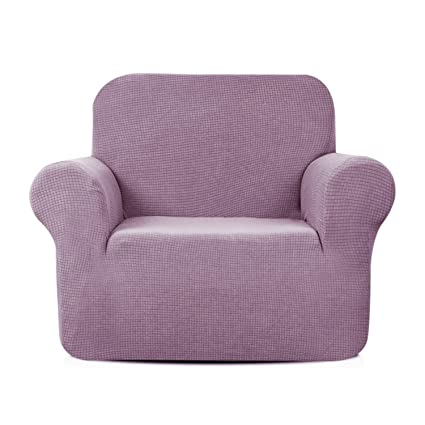 Enjoyable Aujoy Stretch Chair Cover Water Repellent Couch Covers Dog Cat Pet Proof Sofa Chair Slipcovers Protectors Chair Light Purple Ocoug Best Dining Table And Chair Ideas Images Ocougorg