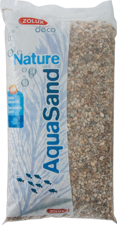Zolux Gravier Naturel pour Aquarium Quartz Gros de 3 à 8 mm de Granulométrie 12 kg 346483