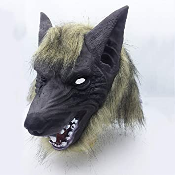 Halloween Látex Máscara De Hombre Lobo Y Hombre Lobo Garra Guantes Paws Party Eco-Friendly Trajes para Adultos Unisex Animal Cosplay,Mask: Amazon.es: ...