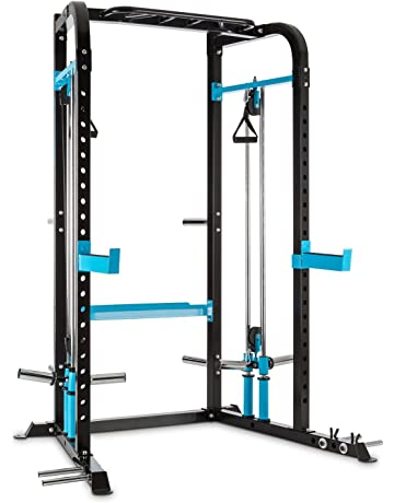 CAPITAL SPORTS Tremendi Rack máquina de poleas con barra de dominadas multiagarre (Safety Spotter,