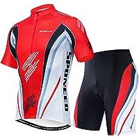 EDK Conjunto de Jersey de Ciclismo de Invierno para Hombre Chaqueta de Calavera de Pelo Rojo Conjunto de Trajes de Bicicleta MTB de Manga Larga t/érmica a Prueba de Viento,2XL