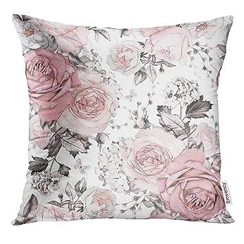 Amazon.com: Funda de almohada de color gris, abstracta, con ...
