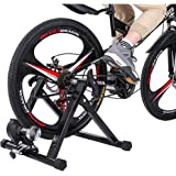 "Cibee Sports Bike Trainer Stand, Magnetic/Wire Controlled Bicycle Stationary Stand for Indoor Exercise, Quiet Noise Reduction Quick Release and Front Wheel Block, 24""–28"""