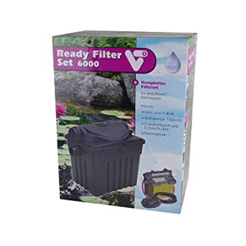 Velda Set de Filtro para Estanques UV-C Ready 6000 9 W Acuario Pecera Limpieza: Amazon.es: Jardín