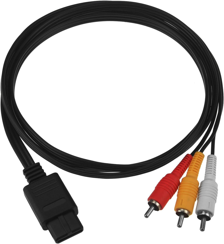Cable AV Composite - SNES/Gamecube/N64/GC GAMECUBE NINTENDO 64 SNES GC N64 SUPER NINTENDO
