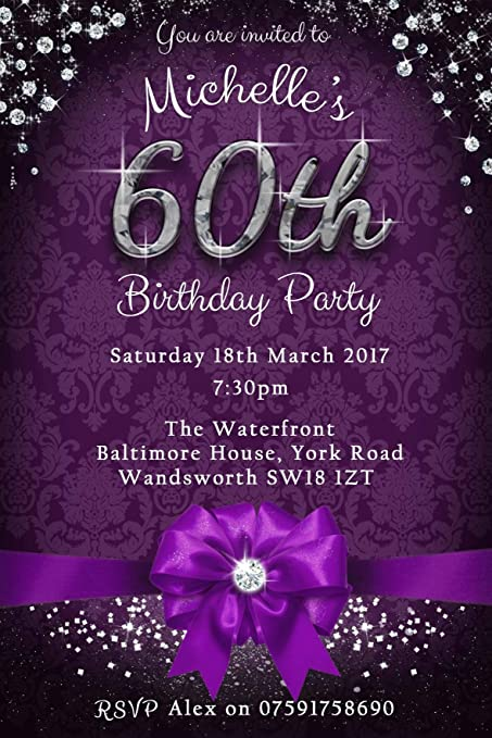 60th Birthday Party Invitations Envelopes