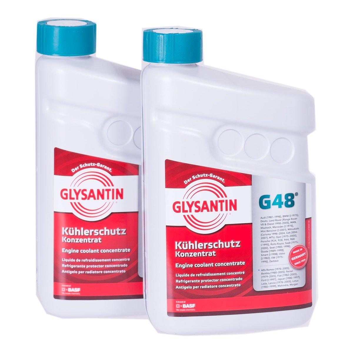 BASF Glysantin G48 - Refrigerante protector concentrado, 1,5 L, 2 unidades