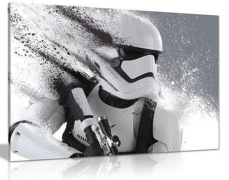 Star Wars Storm Trooper Helmet Giant CANVAS Art Print A0 A1 A2 A3 A4