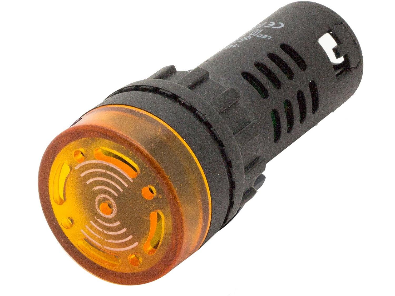 Red 22mm 12V AC//DC LED Flashing Buzzer Pilot Panel Indicator Light