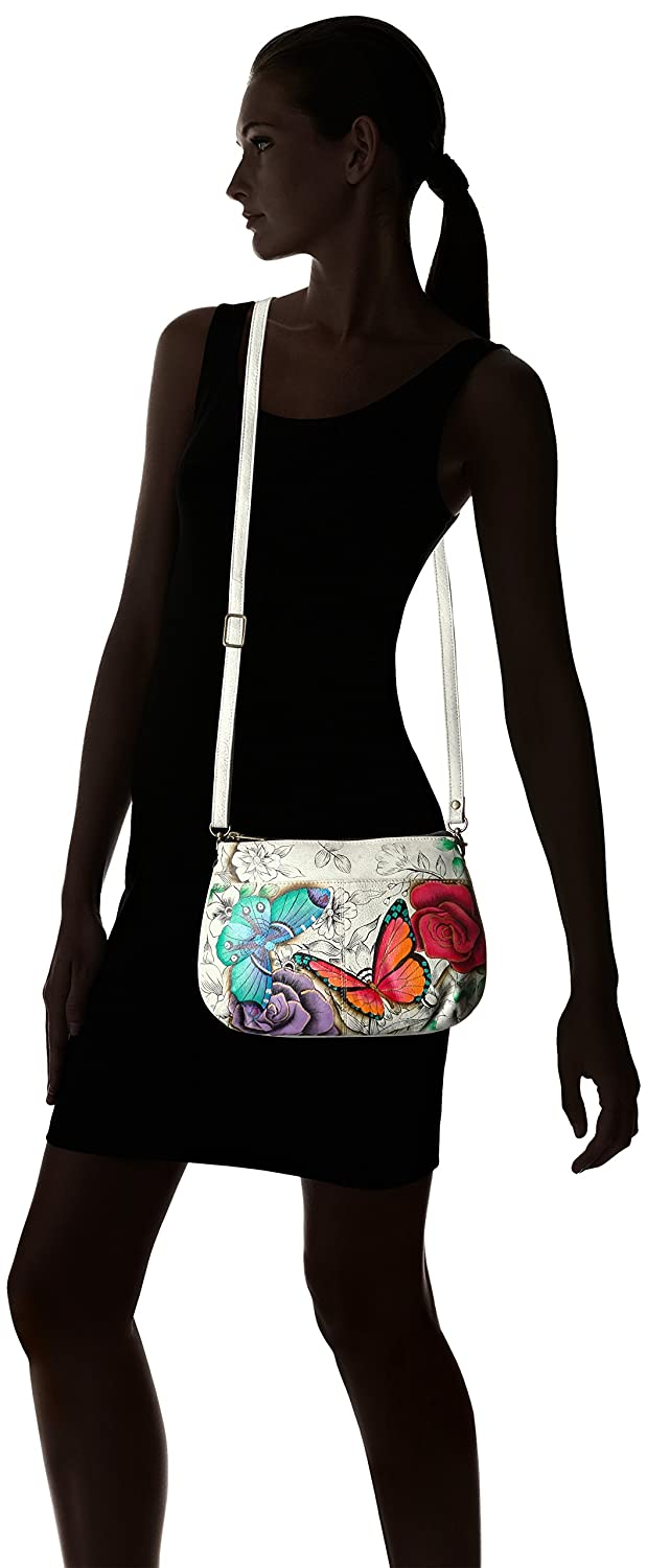 Anuschka Anna by Handpainted Small Multi Compartment X-Body,Floral Paradise