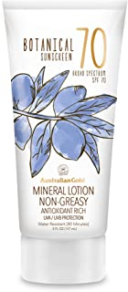 product image for Australian Gold Botanical Sunscreen Mineral Lotion SPF 70, 5 Ounce | Broad Spectrum | Water Resistant