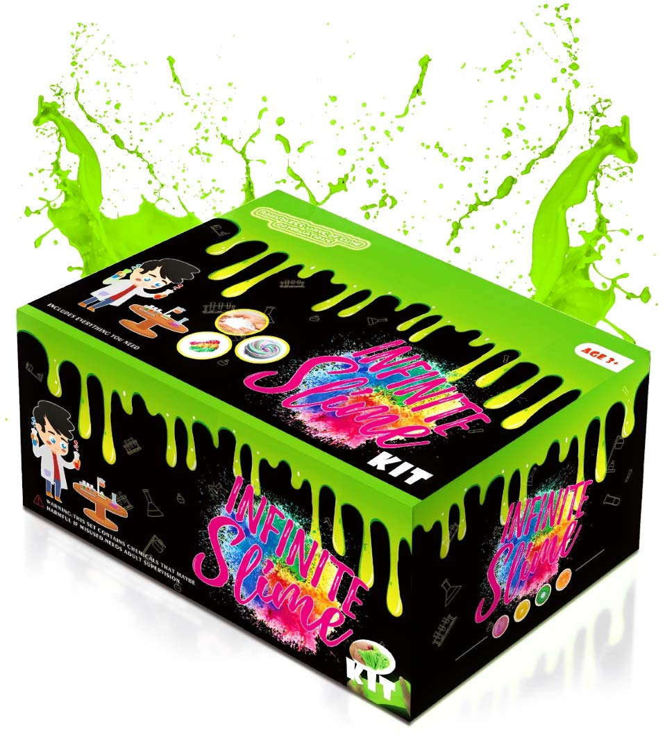 Infinity WAFA Slime Kits - Mystery Slime Box with Non Toxic Slime Ingredients | Slime Kits for Girls with Everything to Make Glow in The Dark Slime Fluffy Slime Glitter Slime and Many More