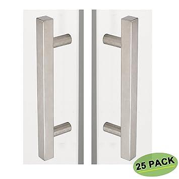 Beautiful 5 Inch Cabinet Pulls Brushed Nickel 25 Pack   Homdiy HDJ22SN Kitchen Cabinet  Handles Square Drawer