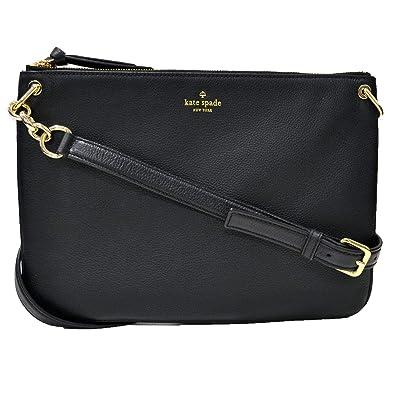 Amazon.com  Kate Spade New York Large Madelyne Larchmont Avenue Crossbody  Purse (Black)  Shoes aa1edde1b19c5
